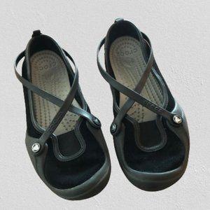 Crocs black mary jane 7 shoes